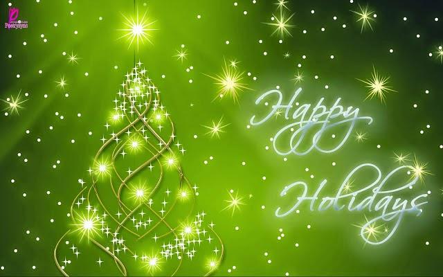 Greenish Happy Holiday Greeting card ~ Happy holiday Quotes ...